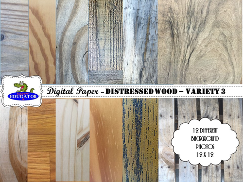 Distressed Wood - Rustic Wood Backgrounds for Shabby Chic - Variety 3