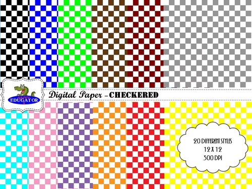 Checkered Digital Paper