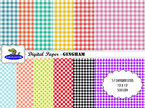 Gingham Digital Paper