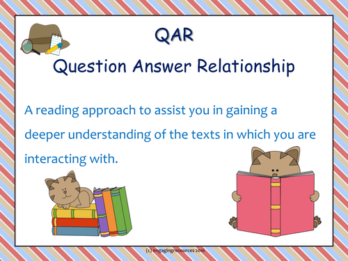 Introduction to Question-Answer Relationship for STUDENTS – Reading Strategy (any text any subject!)