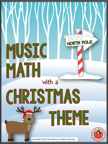 Music Math with a CHRISTMAS Theme