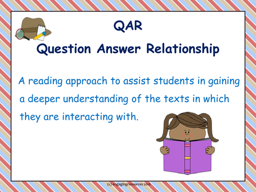 Introduction to Question-Answer Relationship for STAFF – Whole School Reading Strategy
