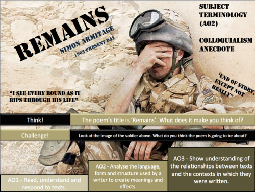 AQA Poetry -  Power and Conflict -  OVER HALF PRICE  BUNDLE + FREE AQA POETRY LESSON