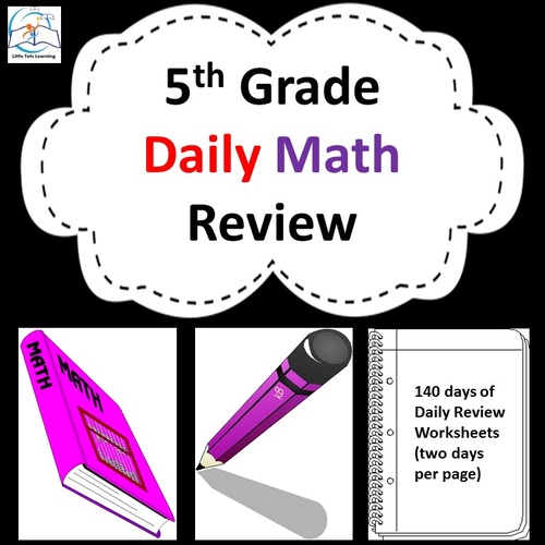 Fifth Grade Daily Math Review: 140 Day Bundle {CCSS Aligned}