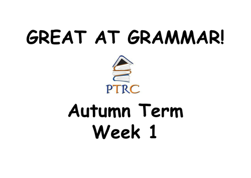 Year 5/6 SATs Great at Grammar SPAG Activities - Autumn Term Pack