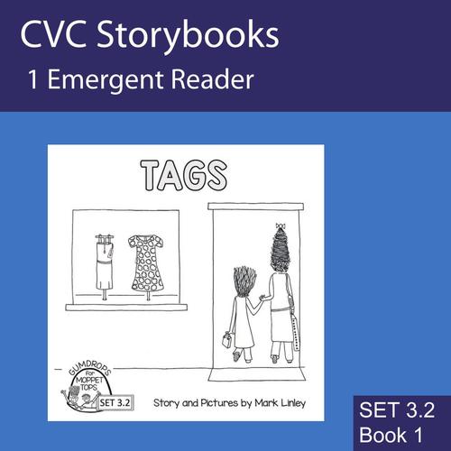 TAGS - FREEBIE - CVC Emergent Reader