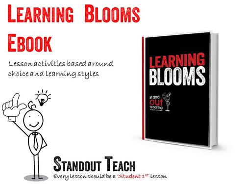 Learning Blooms EBook- How to tailor activities to different learning styles