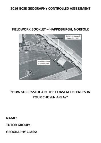 Geography CA workbooklet - Happisburgh Coast