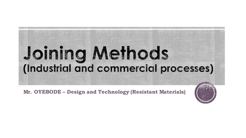 Joining Methods (Industrial and commercial processes)