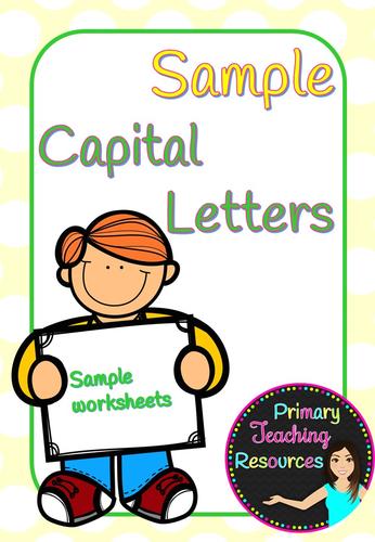 Capital letters sample (KS1 activities).