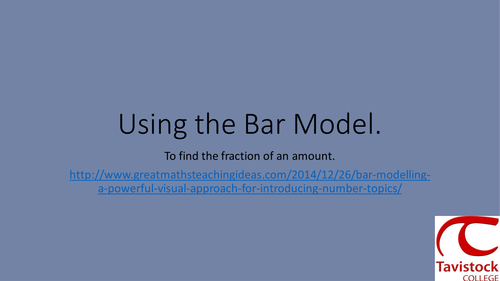 Bar Model to find the fraction of a quantity. by nickstewart85 ...