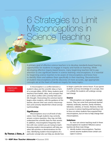 6 Strategies to Limit Misconceptions in Science Teaching