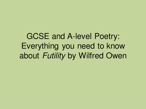 Analysis of Futility by Owen