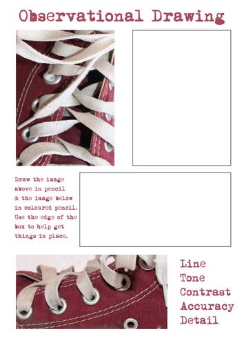 Drawing Shoes - Close ups