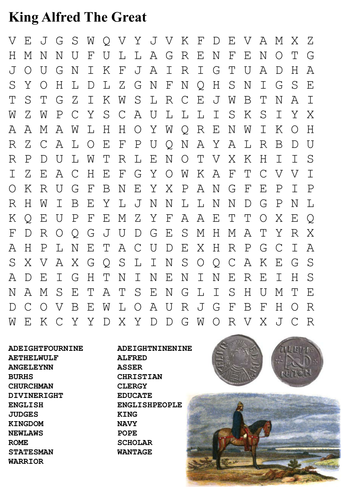 King Alfred The Great Word Search