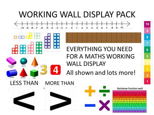 Maths Working Wall Display Pack Ks2 By Erylands Teaching