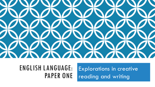NEW SPEC GCSE English Language Paper 1: Teaching ppt, original papers & resources