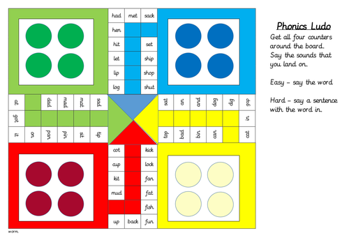 Read Write Inc Ludo Games, Set 1, Set 2 and Set 3