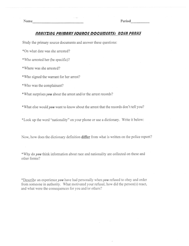 Rosa Parks KS1 Lesson Plan and Worksheet by SaveTeachersSundays ...