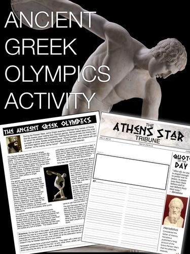 Ancient Greek Olympics Activity