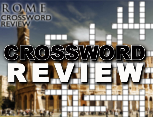 Ancient Rome Crossword Puzzle Review Teaching Resources