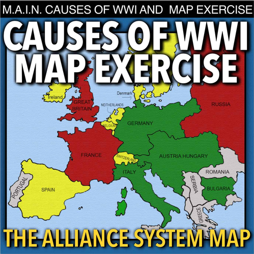 World War I Map Activity & MAIN Causes by bigideas123 - Teaching ...