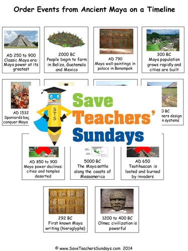 Save teachers sundays teaching resources tes ancient maya timeline ks2 lesson plan and worksheet ibookread Download
