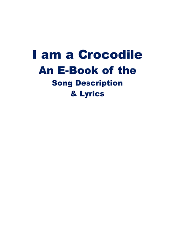 Crocodile Song to Encourage Intentional Anticipation