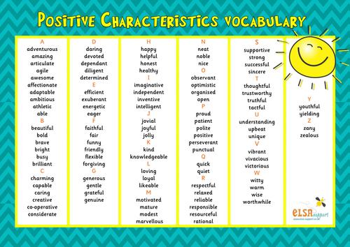 ELSA SUPPORT -vocabulary word mats - pshe, emotions, emotional literacy/intelligence