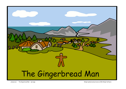 The Gingerbread Man Story / Symbol Supported