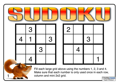 Differentiated Sudoku Maths Challenges