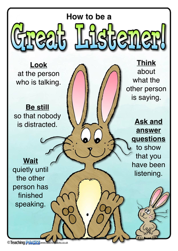 how to be a good listener posters by teachingideas teaching