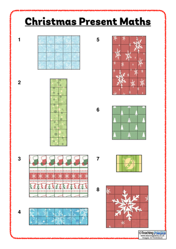 Christmas Present Maths - Area and Perimeter Problems