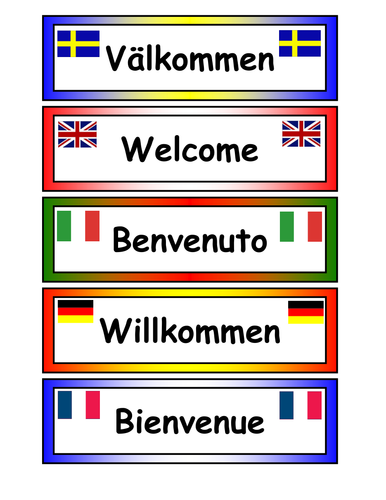 Cake Shop In Different Languages