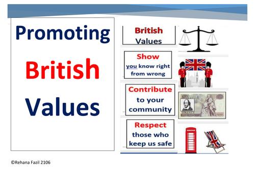 A  British Values Display