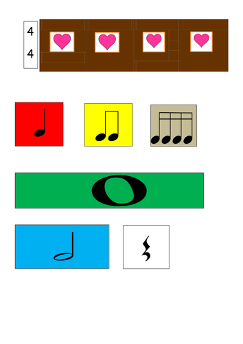 Chocolate bars  and coloured beats composition activity