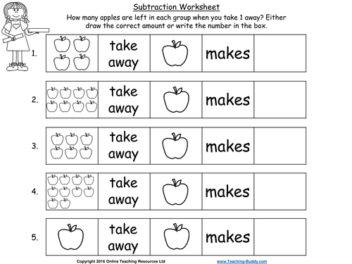 Let's Take Away – Beginning to Subtract (PowerPoint and worksheets)