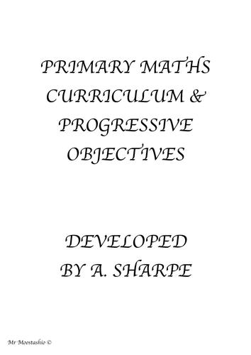 Whole School Maths Progressive Objectives