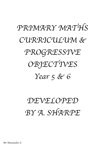 Maths Progressive Objectives Y5-6