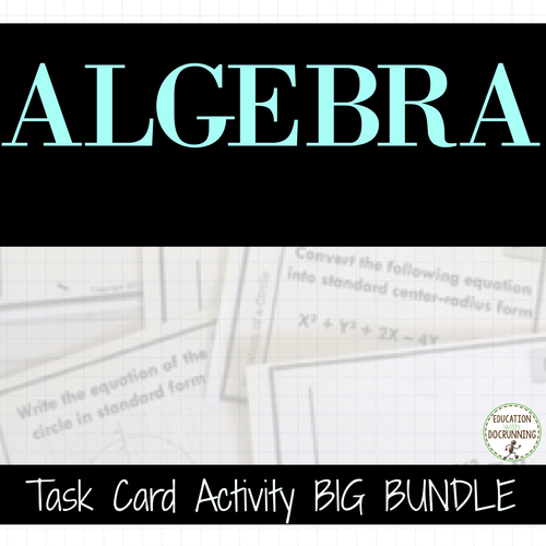 Algebra 1 Task Card Activity - BIG BUNDLE to SAVE