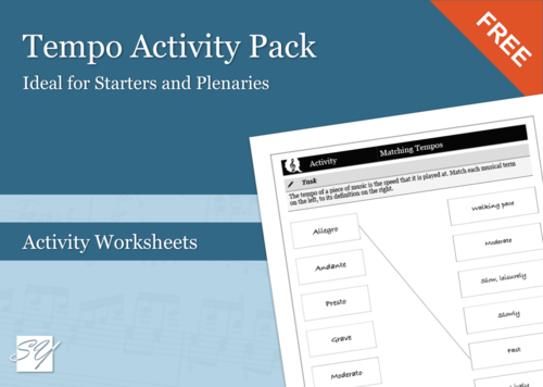 Tempo Activity Pack (Great for Starters/Plenaries)
