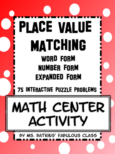 Place Value Matching
