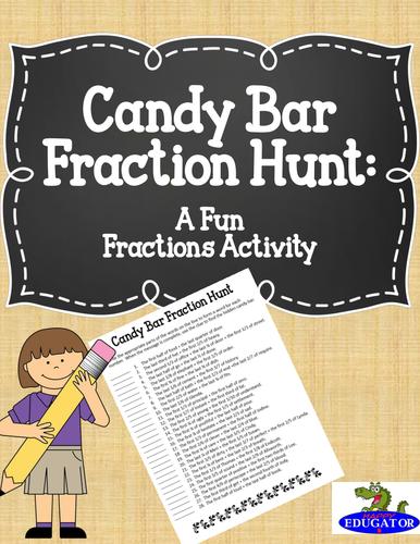 Candy Bar Fraction Hunt - A Fun Fraction Activity