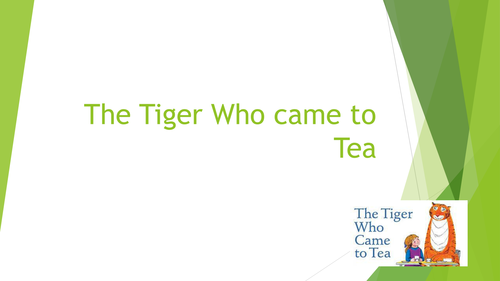 Year 2 Tiger Who Came to Tea Writing Character Description- 2 Lesson - Stories in Familiar Settings