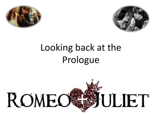 Romeo and Juliet Prologue PPT GCSE