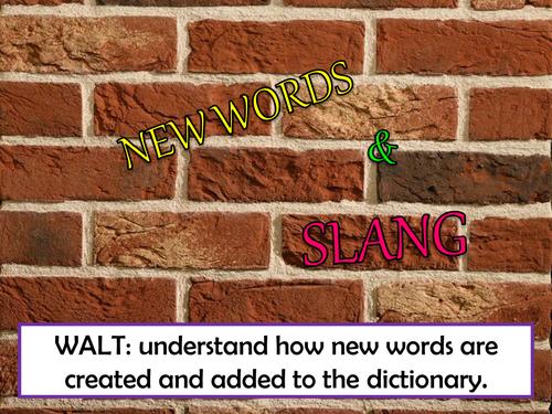 KS3 English - History of English Language - New Words & Slang