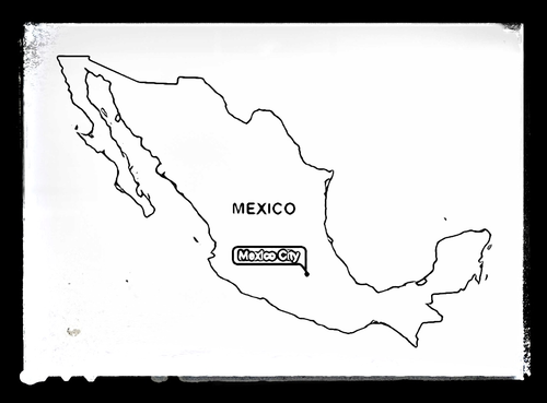 Map of mexico colouring sheet by mael teaching for Mexico map coloring page