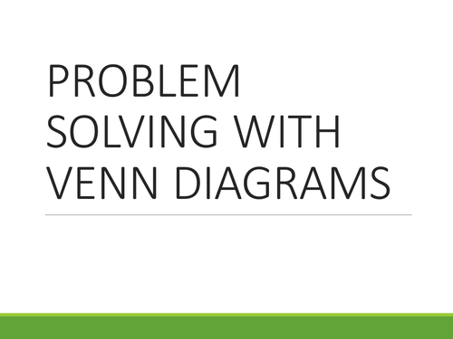 Problem Solving With Venn Diagrams By Oralhurt Teaching Resources