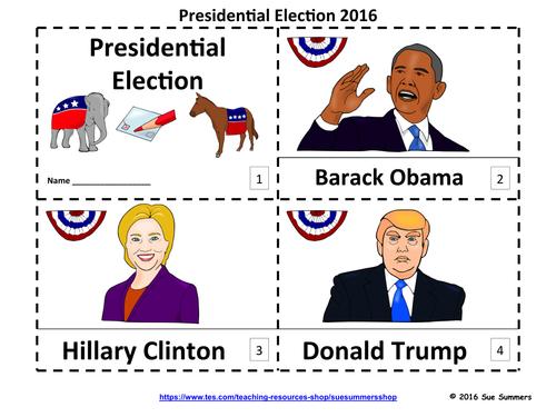 Presidential Election 2016 - 2 Emergent Reader Booklets