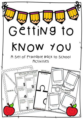 Getting to Know You - Back to School Games